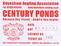 Century Ponds Day Ticket 2012