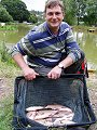 Adam Denham with his match-winning bag of Bream (click to enlarge). Photo by Paul Jolliffe